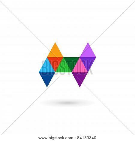 Letter H Mosaic Logo Icon Design Template Elements