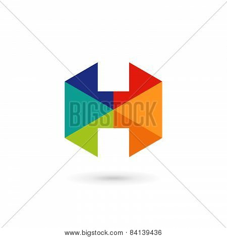 Letter H Mosaic Logo Icon Design Template Elements