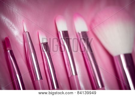 pink professional cosmetic brush