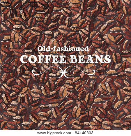 Roasted Coffee Beans, Seamless Background