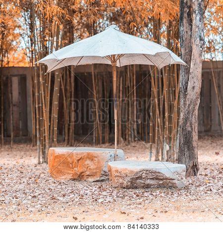 Marble garden chair