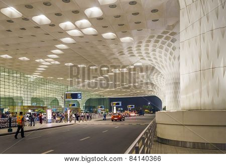 Mumbai, India - January 5, 2015: Tourist Visit Chhatrapati Shivaji International Airport.