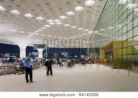 Mumbai, India - January 5, 2015: Tourist Visit Chhatrapati Shivaji International Airport