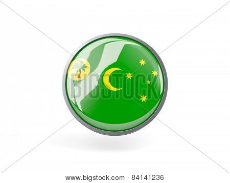 Round Icon With Flag Of Cocos Islands