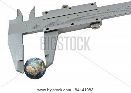Earth Squeezed With A Calipers