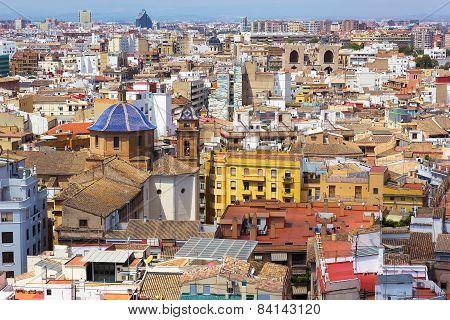 Colorful urban architecture of Valencia Spain.