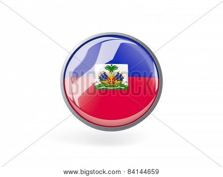 Round Icon With Flag Of Haiti