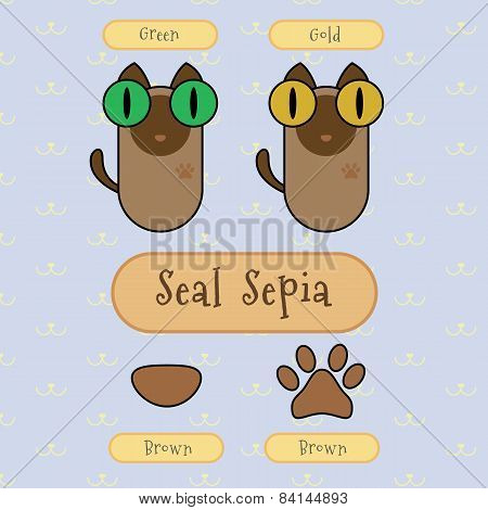 Seal Sepia Cat.