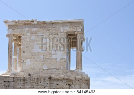 The Temple of Athena Nike at  Acropolis in Athens, Greece.