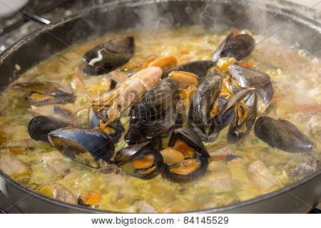 Preparation Of The Paella