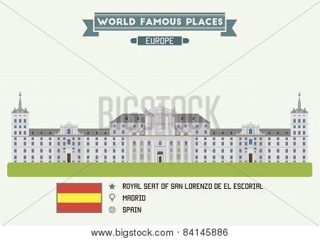 Royal Seat Of San Lorenzo De El Escorial. Madrid