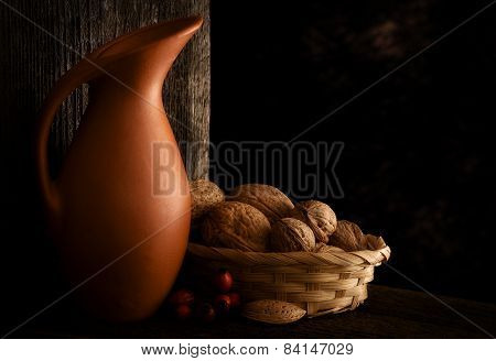 Autumn Still Life with Jug