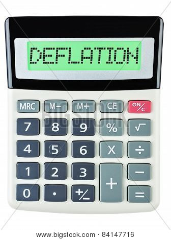 Calculator With Deflation