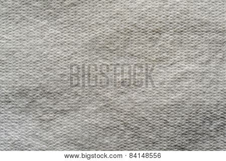 Texture Wadded Fabric Of Gray Color
