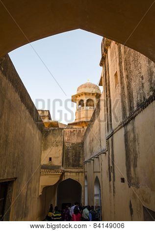 Jaipur India - December 29 2014: Tourist visit Amber Fort near Jaipur