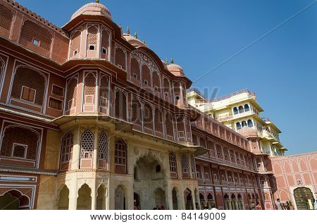 Jaipur, India - December 29 2014: The City Palace complex In Jaipur
