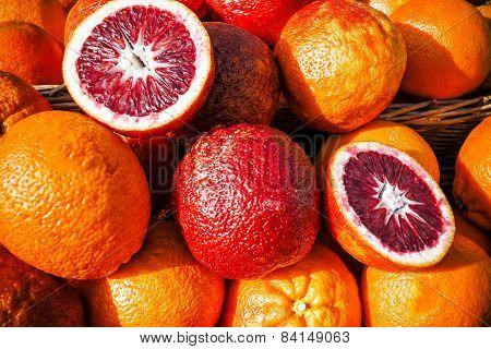 Juicy blood oranges