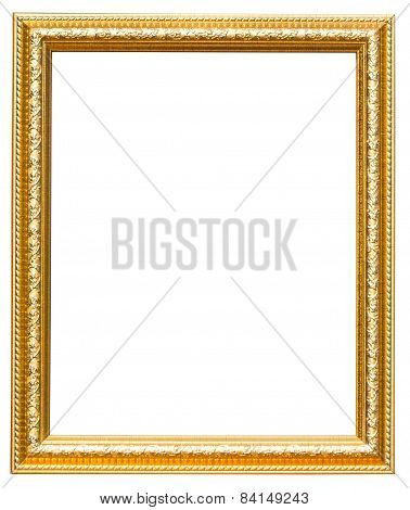 Floral Frame Gold