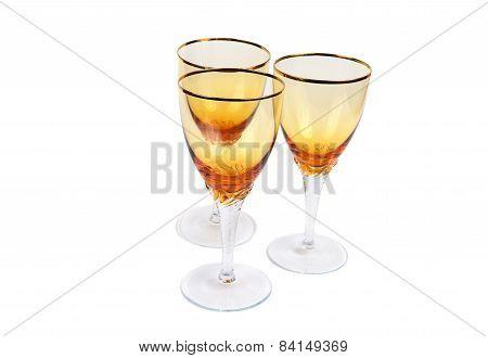 Three Empty Wine Glasses