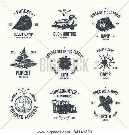 Adventure Camp Emblems