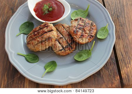 grilled meatballs