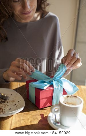 Opening Gift At Breakfast