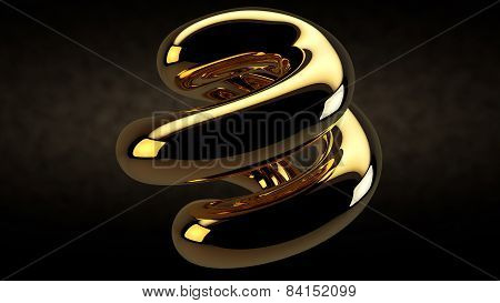 Abstract Design Gem Gold