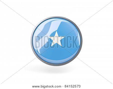 Round Icon With Flag Of Somalia
