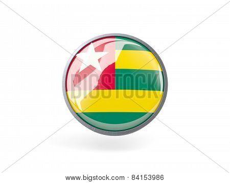 Round Icon With Flag Of Togo