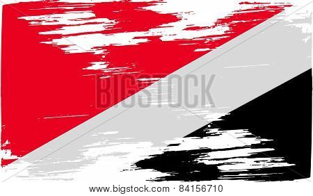 Flag Of The Principality Sealand With Old Texture. Vector