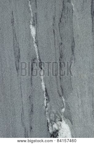 Beautiful Gray Marble Slab Background With Black And White Streaks