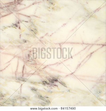 Marble Slab Background In Light Yellow, Beige And Pink-brown