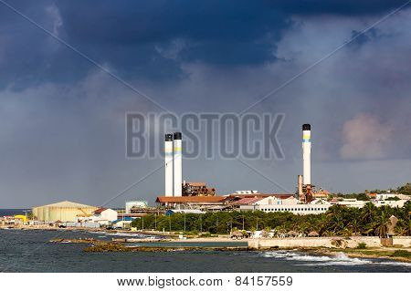 Heavy Industry Under Storm Clouds
