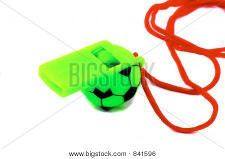 Soccer Related Whistle, Green.