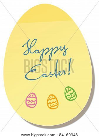 Happy Easter Egg Memo Sticker