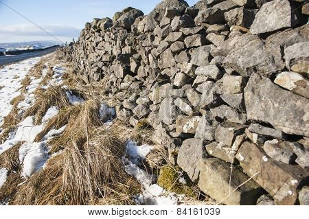 Dry Stone Wall In The English Countryside