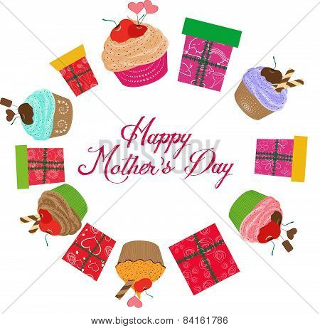 vintage mothers day cupcakes and gifts