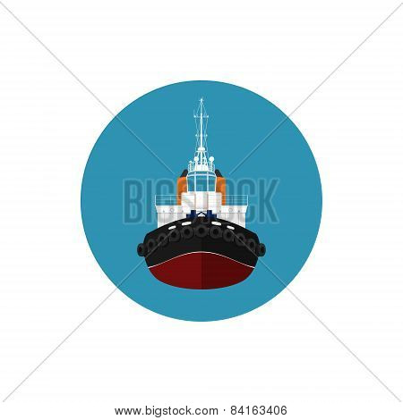 Icon tugboat for mooring of other courts