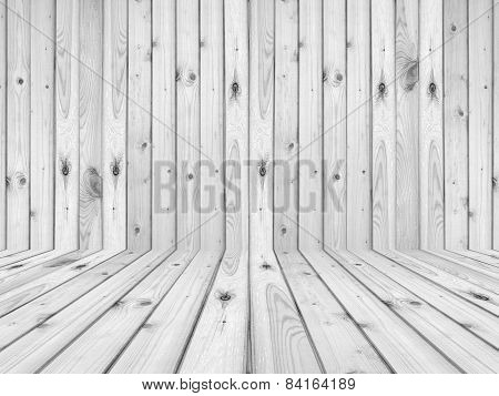 wood flooring and wall