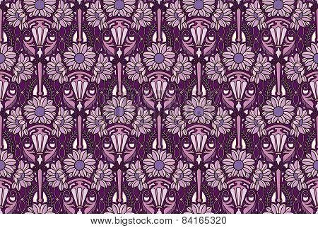 sunflowers wallpaper, purple