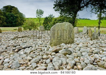 View Of Templewood Stone Circle, Kilmartin Glen, Scotland