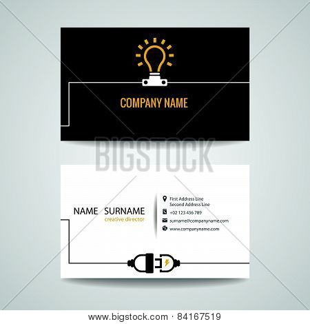 lamp connect card for business and engineer electric power