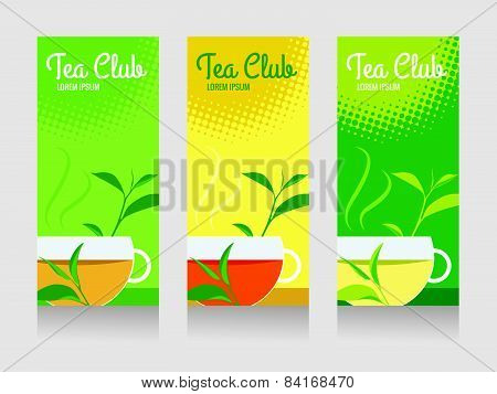 tea club and tea cup banner