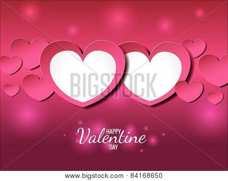 happy valentine day card (twin heart of love)