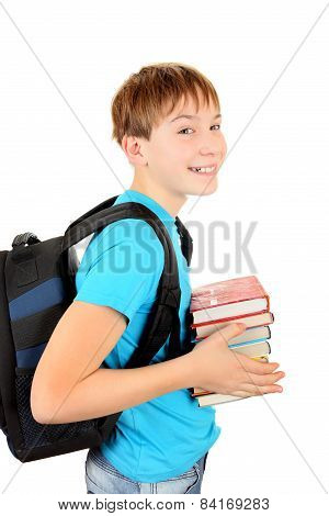Schoolboy With A Books