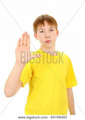 Kid With Refusal Gesture