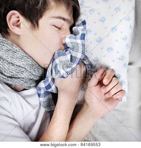 Sick Teenager Sleeping