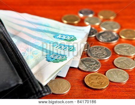 Russian Currency Closeup