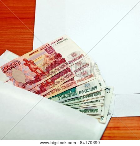 Envelope With Russian Money