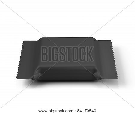 Black Packaging For Biscuits Or Sweets